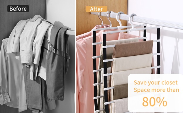 Get More Space in Your Closet with Double Hook Hangers