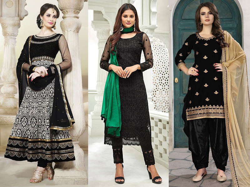 How to Style Jewelry with Iconic Black Punjabi Suit?